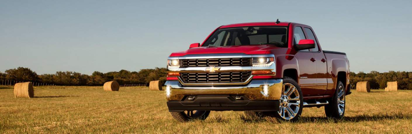 2018 Chevy Silverado 1500 in grass field
