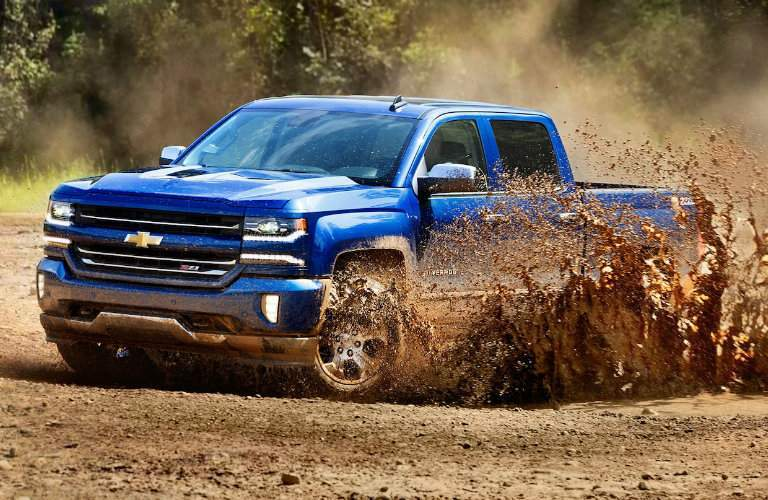 2018 Chevy Silverado 1500 going through mud