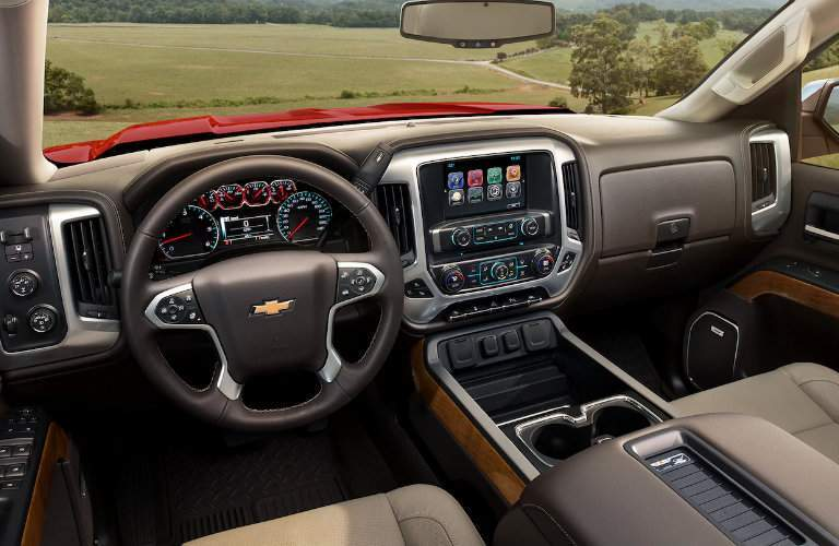 2018 Chevy Silverado 1500 from driver perspective