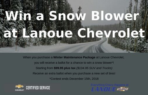 Win a Snow Blower at Lanoue Chev