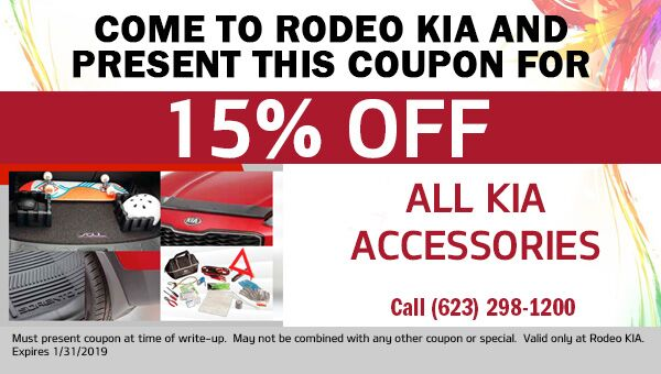 15% off Accessories at Rodeo Kia in Avondale