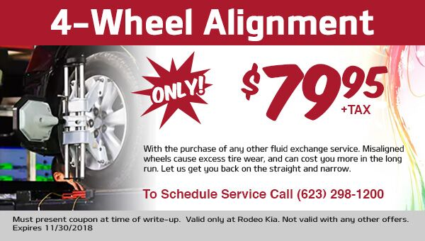 4 Wheel Alignment only $79.95