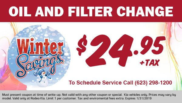Winter Oil Change Special at Rodeo Kia in Avondale