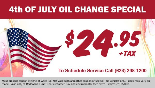 4th of July Oil Change Special