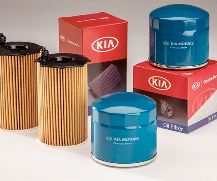 Genuine Kia Filter and Oil Change