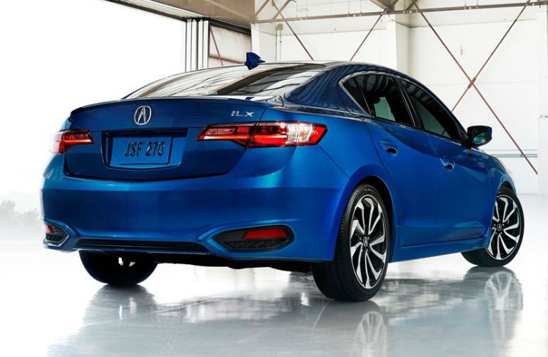 ILX in Blue Rear View