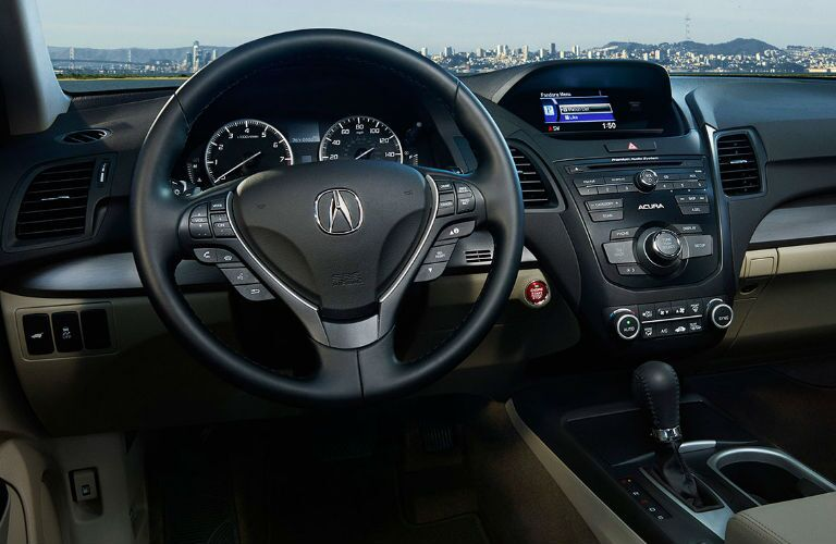 2017 RDX steering wheel and dashboard