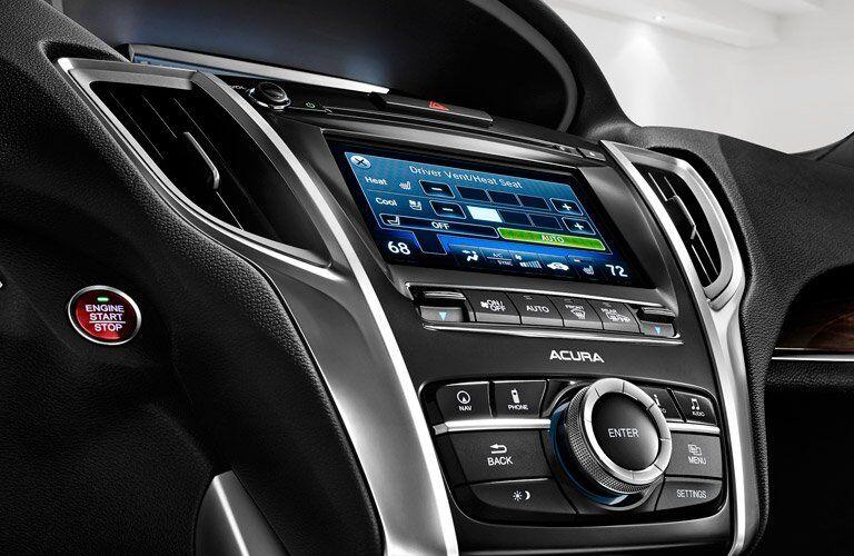 2018 Acura TLX center console