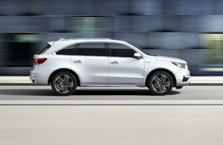 2018 Acuara MDX Sport Hybrid with Advance Package in White Diamond Pearl
