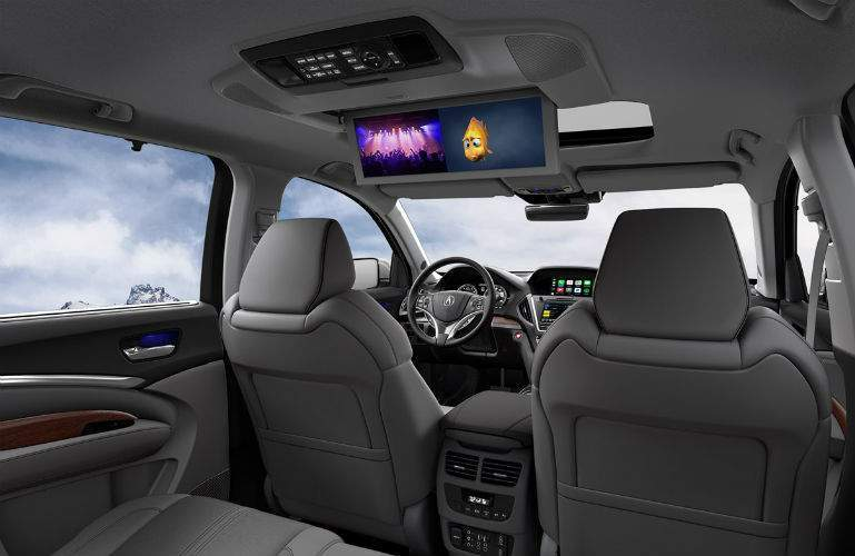 2018 Acura MDX available dual screen rear entertainment system