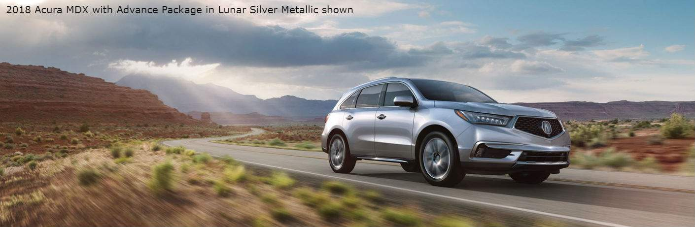 2018 Acura MDX with Advance Package in Lunar Silver Metallic