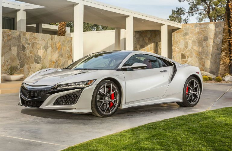 2018 Acura NSX parked in a driveway