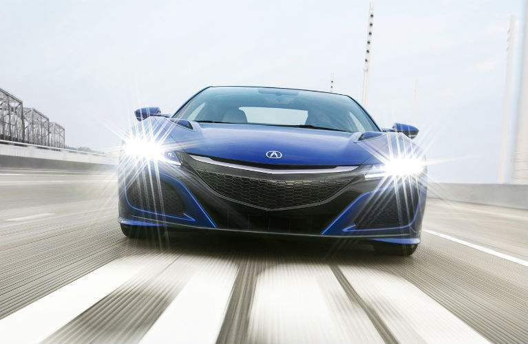 2018 Acura NSX with headlights on