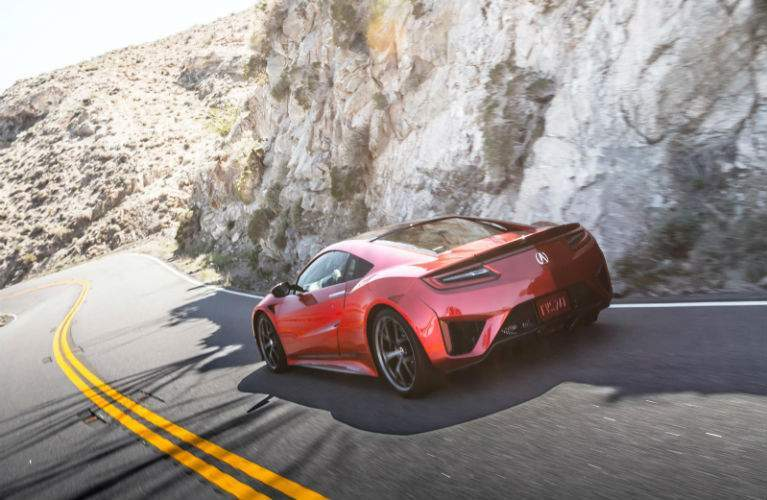 2018 Acura NSX using Sport+ dynamics while going downhill