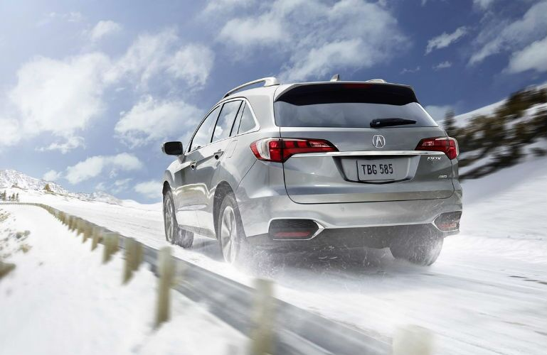 2018 Acura RDX AWD with Advance Package and Roof Rail accessory in Lunar Silver Metallic