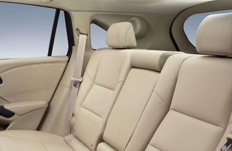 2018 Acura RDX with technology package and parchment interior rear seat view