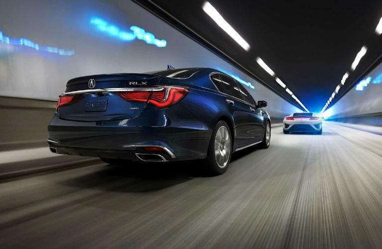 2018 Acura RLX Sport Hybrid in Fathom Blue Pearl