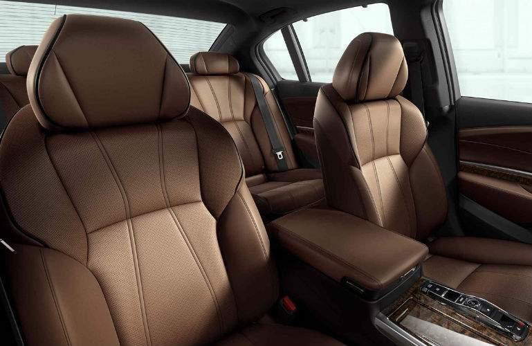 2018 Acura RLX Sport Hybrid with Espresso interior seating