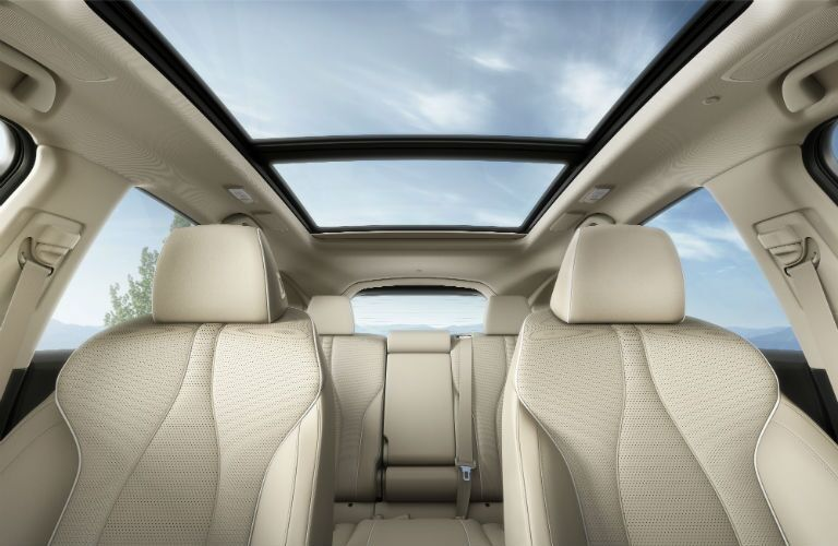 2019 Acura RDX with Advance Package and Parchment Interior with the ultra-wide panoramic moonroof