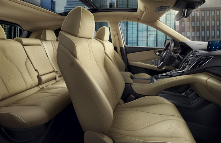 2019 Acura RDX with Advance Package and Parchment Interior with profile view of the seats