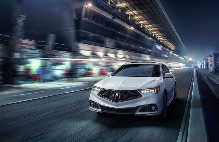 2019 Acura TLX with A-Spec Package in Platinum White Pearl