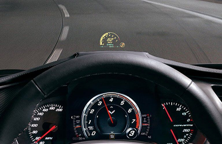 2017 Chevrolet Corvette head-up display