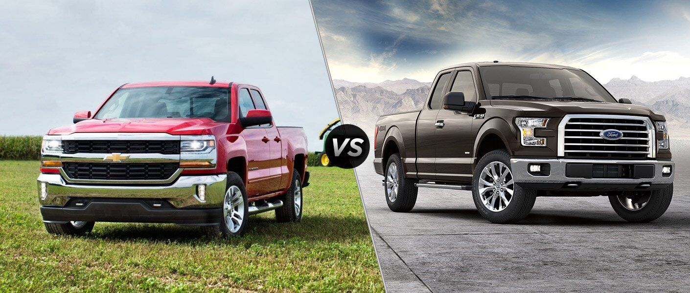 2017 Chevy Silverado 1500 vs 2017 Ford F-150