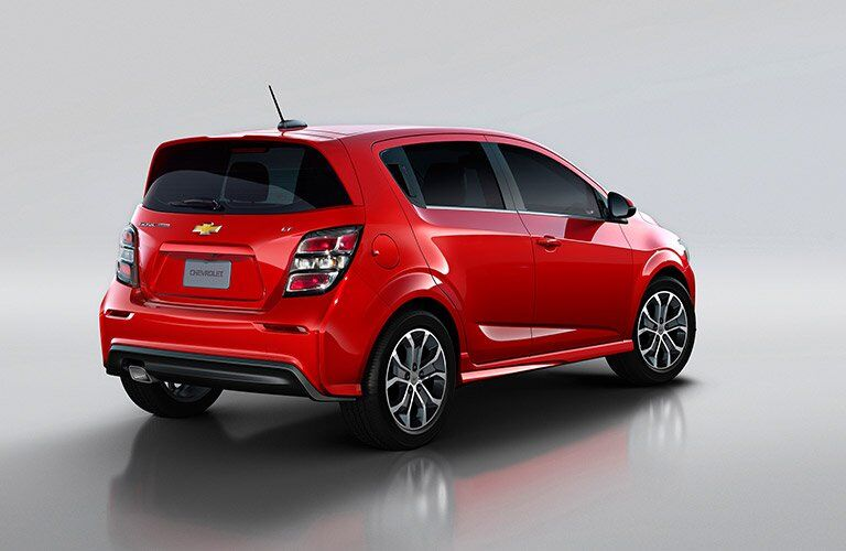 2017 Chevy Sonic hatchback rear view