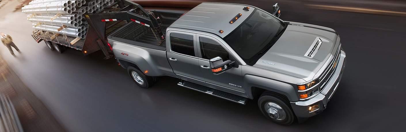 2018 Chevy Silverado 3500HD towing trailer