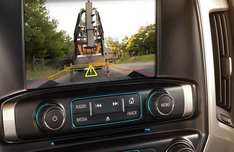 2018 Chevy Silverado 3500HD rearview camera showing behind truck