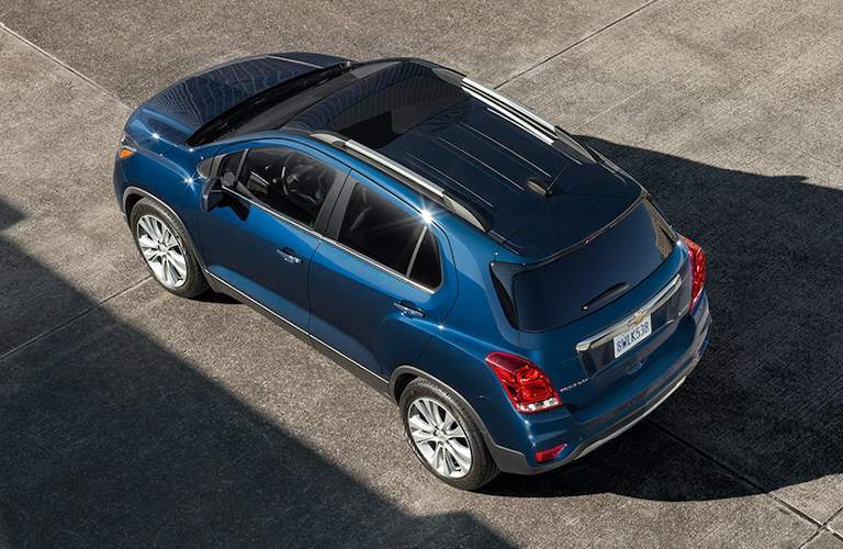 2018 Chevrolet Trax Rear Quarter shot from above, parked on concrete