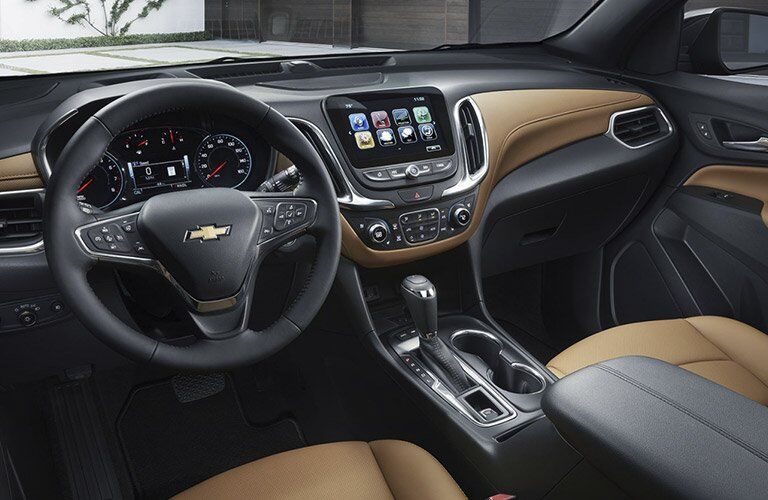 2018 Chevrolet Equinox front interior driver dash and passenger space