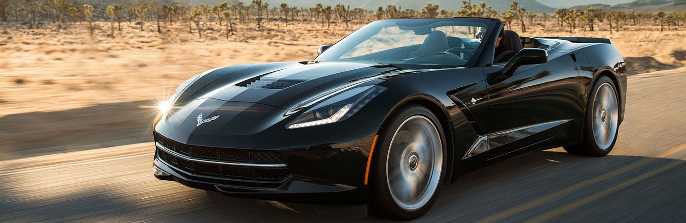 2018 Chevy Corvette Stingray driving on a road