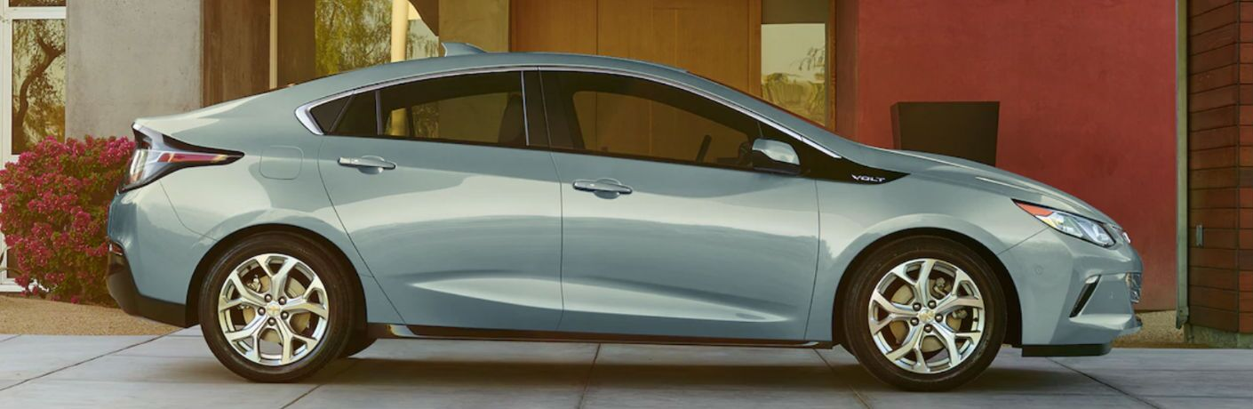 2018 Chevy Volt parked showing side profile