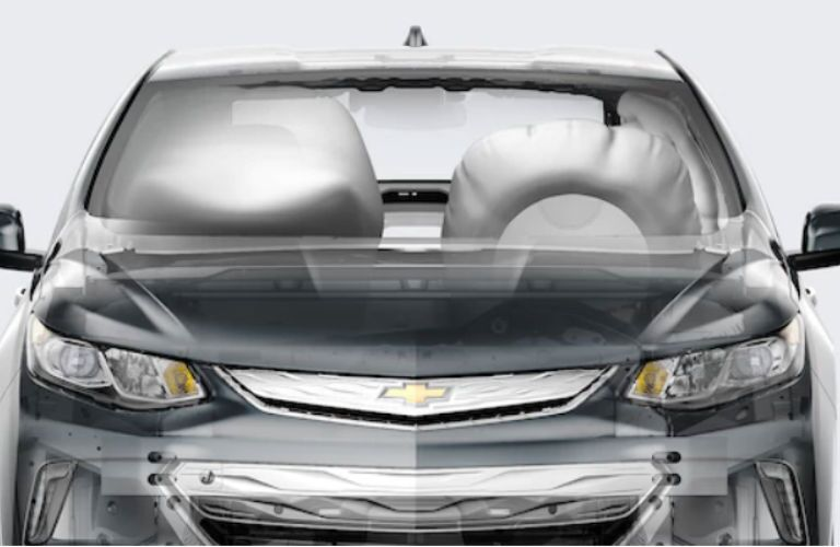 2018 Chevy Volt airbag systems in action