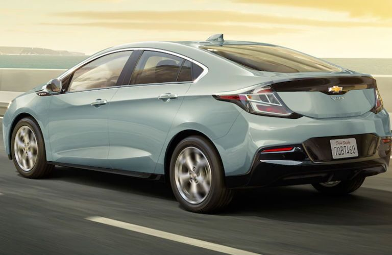 2018 Chevy Volt side and rear profile
