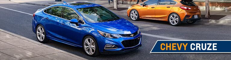 Side view of the 2018 Chevy Cruze in Angola, IN