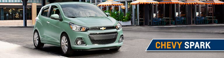 Front view of the 2017 Chevrolet Spark in Angola IN