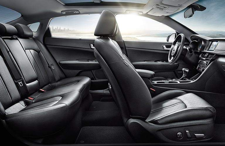 2018 kia optima plug-in hybrid leather interior seating