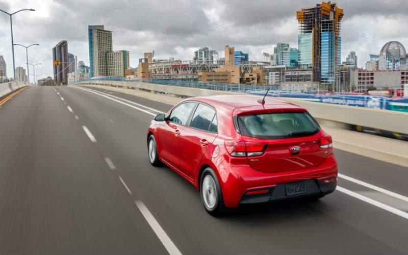 2018 Kia Rio 5-Door back red