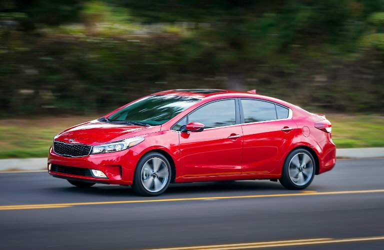 2018 kia forte driving alloy wheels