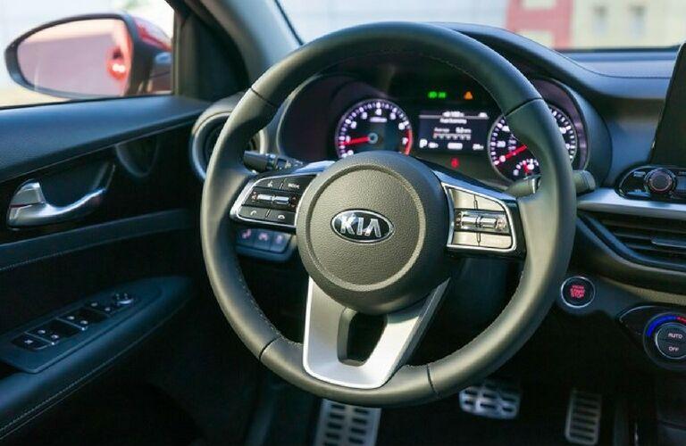 2019 kia forte steering wheel detail