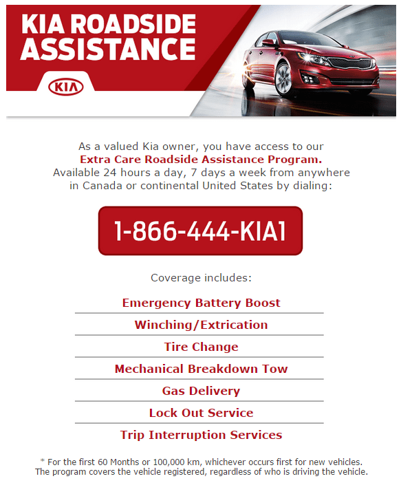 Kia Roadside Assistance