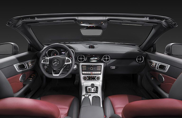 2017 Mercedes-Benz SLC front interior driver dash and display audio