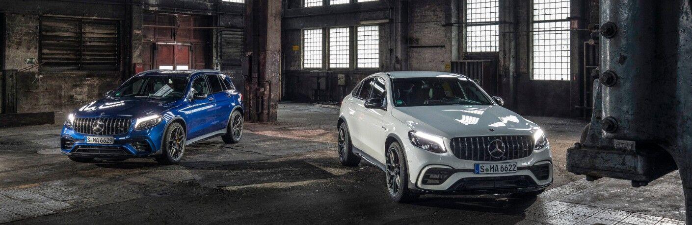2017 Mercedes-Benz GLC SUVs in garage