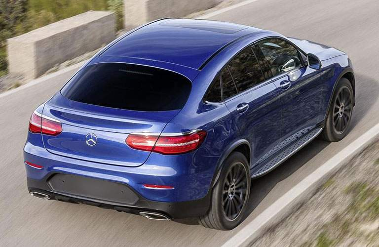 rear view of a blue 2018 Mercedes-Benz GLC