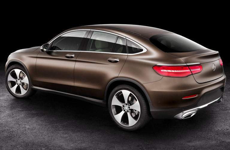 brown 2018 Mercedes-Benz GLC on a black background