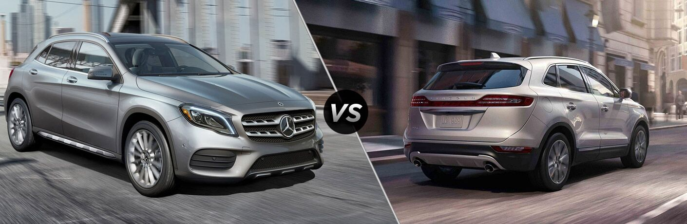 Gray 2019 Mercedes-Benz GLA and silver 2019 Lincoln MKC