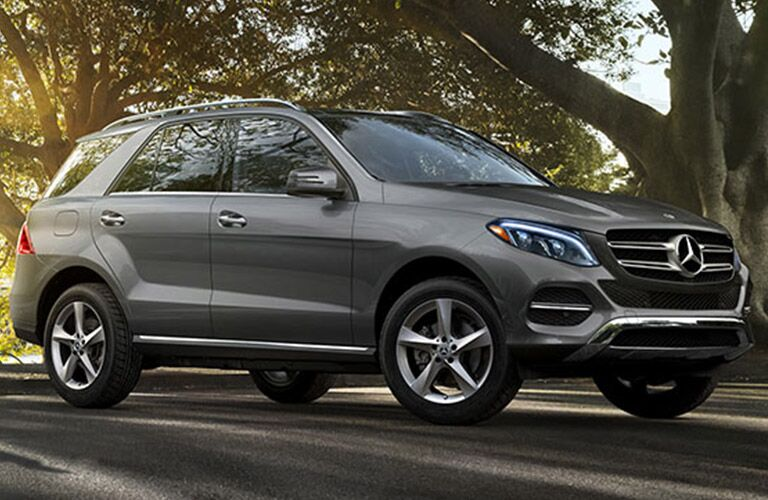 side view of a Mercedes-Benz GLE SUV