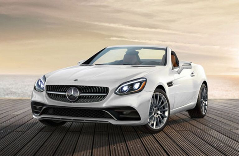 white 2019 Mercedes-Benz SLC